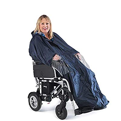 Electric Wheelchair Power Chair Cape - Waterproof and Cotton Lined, full length (Eligible for VAT relief in the UK)