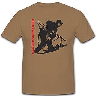 Panzergrenadier PzGren Soldat WK WH Armee Heer - T Shirt #2111, Größe:XXL Herren, Farbe:Sand