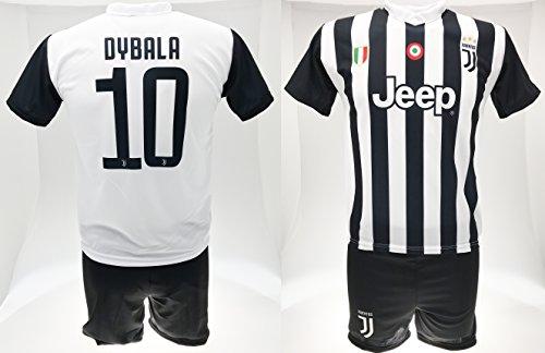 Completo dybala 2018 juventus prodotto ufficiale 10 nuovo logo 2017/2018 replica autorizzata juve maglia + pantaloncini (l adulto)