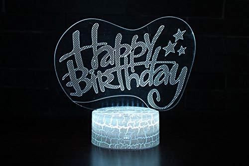 Alles Gute Zum Geburtstag Form Tischleuchte 3 Aa Batterien Oder Usb-Kabel Powered Schöne Acryl Material Panel Abs Basis Für Tischdekoration Und Nacht Dekoration ()