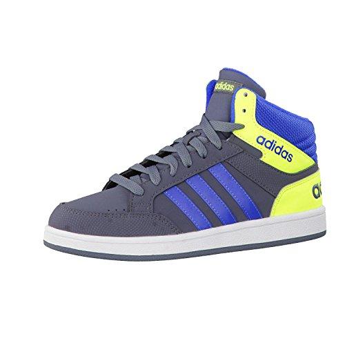 adidas Kinder High Top Sneaker Freizeitschuhe Schuhe HOOPS LIGHT MID K grau-blau, Größe:UK 4 (36 2/3) (High Schuhe Top Adidas)