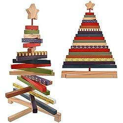 Nibesser Weihnachtsbaum Holz Tisch Deko Weihnachten Baum Dekoration Weihnachtsdeko Weihnachtsbaumschmuck DIY Geschenk, S-30cm L-40cm