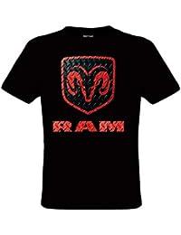 91a9a556a122b DarkArt-Designs RAM Logo - Dodge T-Shirt für Kinder und Erwachsene -  Automotiv