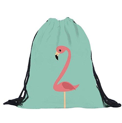 Sannysis bolsos de mujer con cordón, mochila infantil Bolsa de hombro (C)