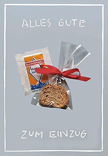 Klappkarte mit Mini-Geschenk & Umschlag in Folie (Grußkarte A6 / Umschlag 12 x 17,5 cm) • 45524 ''Alles Gute zum Einzug'' von Inkognito • Künstler: INKOGNITO © Sobunthier • Mini-Geschenk-Karten (Frischs Geschenk-karte)