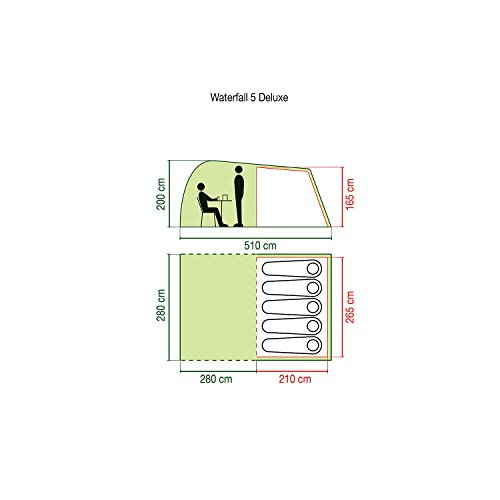 41bBer2iOsL. SS500  - Coleman Waterfall 5 DLX Five Man Tent