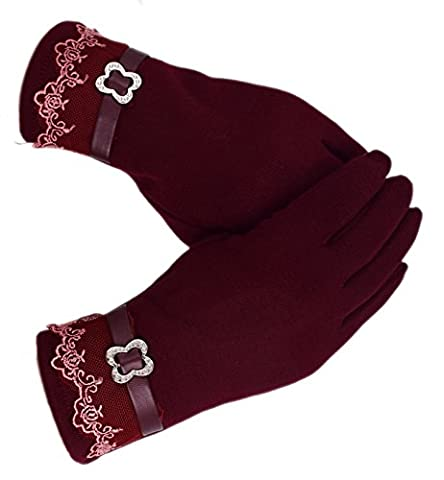 Women's Touch Screen Gloves, WITERY Comfy Polar Fleece Windproof / Coldproof Touch Screen Mittens Gloves for Women Ladies - Ideal for Dress / Driving / Cycling / Motorcycle / Camping / Running Gloves