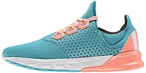 adidas Falcon Elite 5 Xj, Chaussures de Running Compétition Mixte Bébé Vert / blanc / rouge (vert impact / blanc Footwear / rayon de soleil)