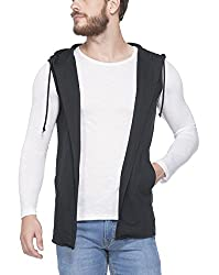 Tinted Solid Cotton Trendy Hooded Shrug
