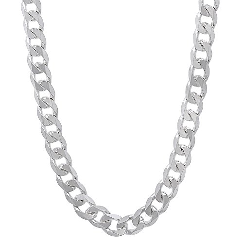 5.5mm Solid 925 Sterling Silver Beveled Cuban Curb Link Italian Chain