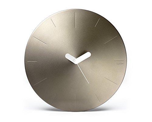 Lexon LR142D Conic Horloge Murale Aluminium, Or Doux, 25,4 x 25,4 x 6 cm