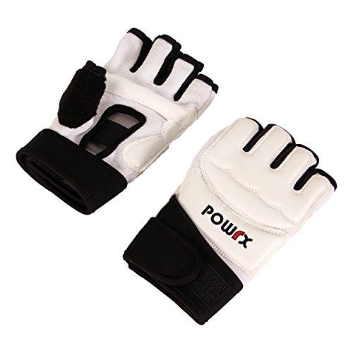 POWRX MMA Handschuhe Profi | Boxen, FreeFight, Taekwondo, Grappling, Kampfsport | verschiedene Größenvarianten (M)