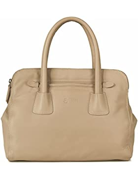BACCINI borsa grande FIRENZE - borsa a mano - borsa da donna vera pelle (35 x 35 x 10 cm)