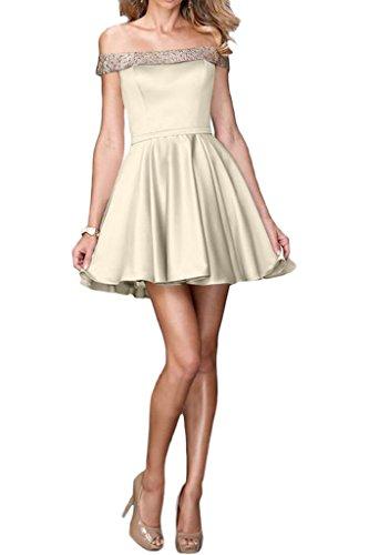 ivyd ressing robe courte ligne fabuleuses U de la découpe A mommé Prom Party robe robe du soir Champagne