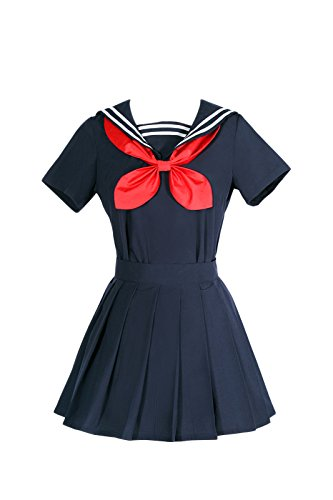 Sailor School Uniform (NSPSTT Damen Japanisch Kurzarm Schuluniform Sailor Uniform Cosplay Kostüm)