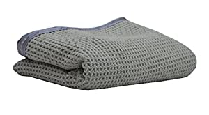 Sobby Microfiber Drying Towel | Waffle Weave Extra Large Microfibre Drying Cloth, 50 cm x 80 cm, 400 GSM, Satin Edge