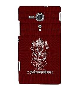 Fuson Designer Back Case Cover for Sony Xperia SP :: Sony Xperia SP HSPA C5302 :: Sony Xperia SP LTE C5303 :: Sony Xperia SP LTE C5306 (Ganesha GAnapathi lord GAnapthi Lord Ganesha Ganesha Idol)
