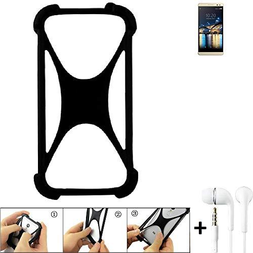 K-S-Trade Handyhülle für Switel Champ S5003D Schutzhülle Bumper Silikon Schutz Hülle Cover Case Silikoncase Silikonbumper TPU Softcase Smartphone, schwarz (1x), Headphones
