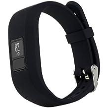 Reemplazo Pulsera Ajustable de Silicona Banda de Hebilla para Garmin Vivofit 3 - Negro