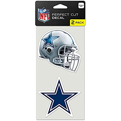 NFL Dallas Cowboys Perfect Cut Decal (Set of 2), 4 x 4 by WinCraft