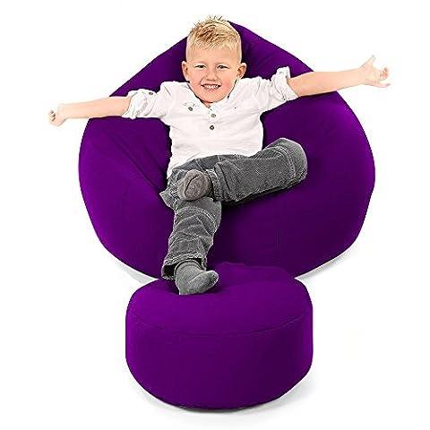 RU Comfy Kids Classic Trend Bean Bag, Fabric, Purple