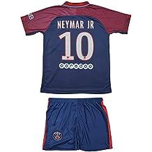 PSG Paris Saint Germain #10 Neymar 2017 2018 Heim Kinder Trikot und Hose