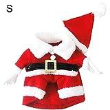 Asien 1set Cane della Santa Costume di Natale Abbigliamento Pet Invernale con Cappuccio Vestiti Ricopre di Cappello per Dog Pet Abbigliamento Chihuahua Yorkshire Poodle (s)