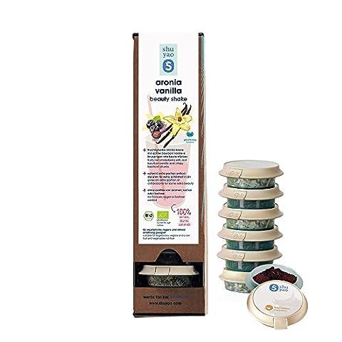 SHUYAO Aronia Vanilla Beauty Shake, 100% Bio, Superfood, vegan Fitness