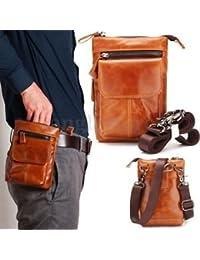 Tradico® TradicoBrand New Men Genuine Leather Travel Messenger Shoulder Sling Chest Fanny Pack Waist Bag