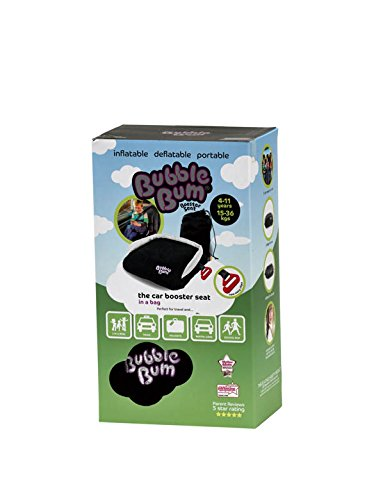 BubbleBum Travel Car Booster Seat, Black