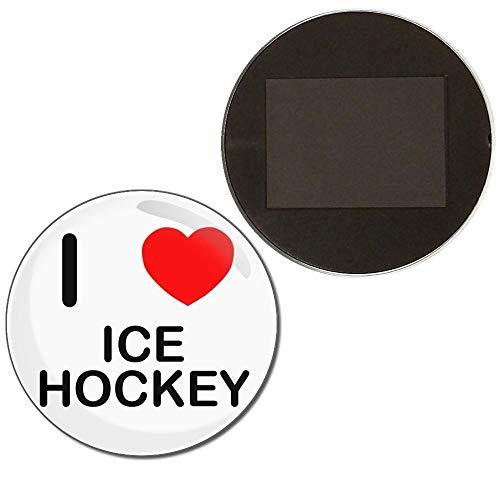 I Love Ice Hockey - 77mm Anstecker Kühlschrankmagnet