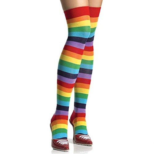 arcobaleno-a-meta-coscia-calzini-adulti-my-little-pony-dash-brite-delle-donne-punk-multi-color