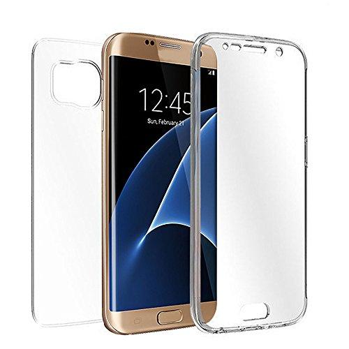 Preisvergleich Produktbild Amcool für Samsung Galaxy S7 Edge, Transparent Ganzkörper Gummi Hülle Case Cover