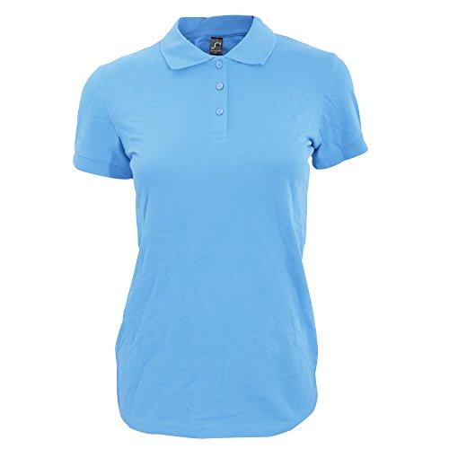 SOLS Perfect - Polo 100% coton à manches courtes - Femme Bleu ciel