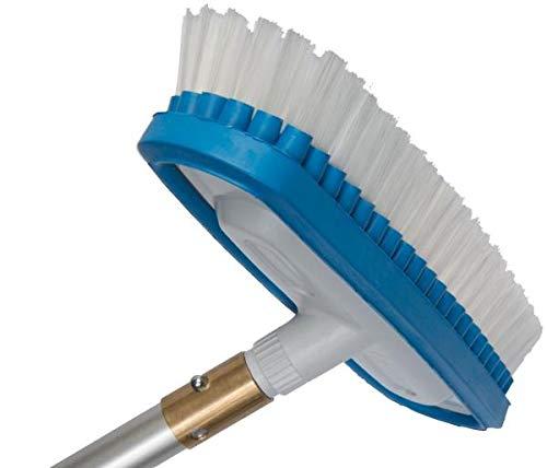 Waschbürste Harte Borsten 25 cm für Wasser-Teleskopstange & Teleskopstangen inkl. 1/4 Zoll Gewinde Adapter