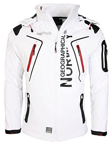 Geographical Norway Tambour Herren Softshell Jacke, Weiß, XL
