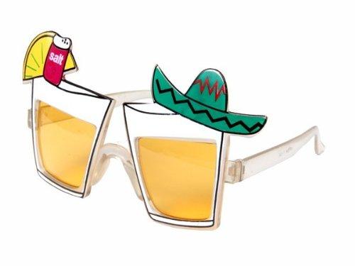 Sonnenbrille Funbrille Partybrille Spaßbrille Diskobrille Karneval viele Modelle, Brille wählen:F-030 Tequila