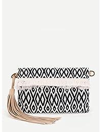 Premium Fringe & Studded Detail Tote Bag