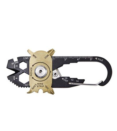 BAITER 20-in-1 multifunzione portatile Tool Kit Campeggio necessario Gadget Portachiavi Con Chiave Cacciavite e (20 In 1 Kit)