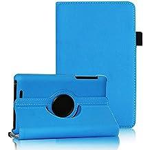 COOVY® SMART FUNDA 360º GRADOS ROTACIÓN PARA ASUS GOOGLE NEXUS 7 2012 (1. GENERACIÓN) COVER CASE PROTECTORA SOPORTE color azul claro
