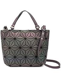 6d03b4221fe38 Chenrry Geometrische Leuchtende Geldbörse und Handtaschen für Damen  Holographische Tasche Top…