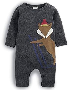 Mamas & Papas Baby-Jungen Schneeanzug Fox Knit Romper