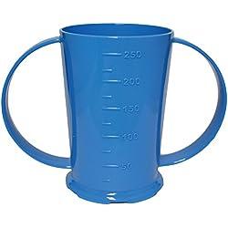 NRS Healthcare azul graduado vaso o taza con 2asas