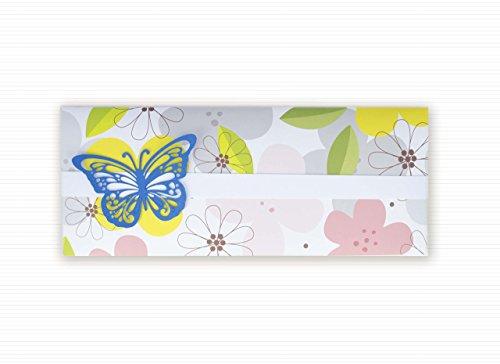 Geldhalter - Zeremonien - Hochzeit - Geldbeutel Umschlag (Größe 22 x 9,5 cm) + leere Grußkarte innen - handgemachte Karte - freier Raum nach innen