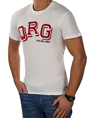 JACK & JONES Herren T-Shirt Jcomerlin jcotalent jormasked Tee Ss Crew Neck Weiß (Cloud Dancer ORG Fit:REG)