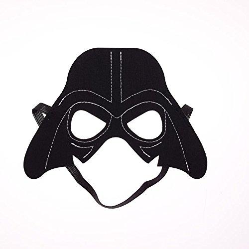 Macxy - 1PC Star Wars Darth Vader Yoda Kommando Weihnachtssuperheld Halloween Kostüme Cosplay Schablone Kindergeburtstagsfeier-DIY Geschenk [Darth 3pc]