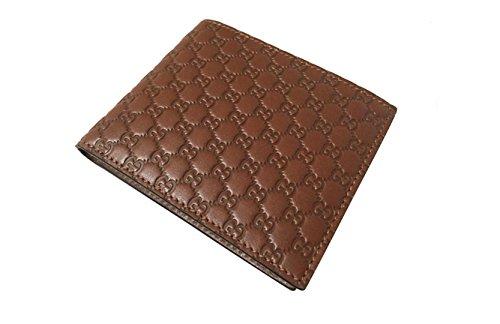 915f6472d87c59 Gucci GG Micro Guccissima Brown Men's Bifold Wallet – 260987 203887