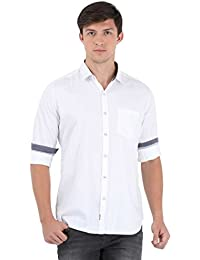 Sting White Solid Full Sleeve Casual Shirt