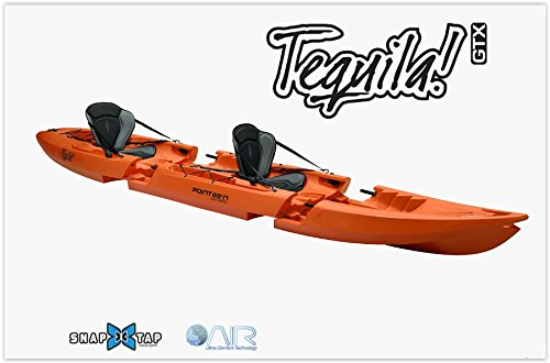 Kayak Desmontable TEQUILA TANDEM GTX (naranja)
