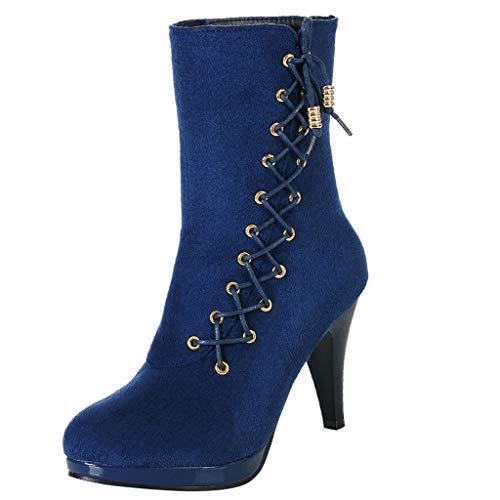 Zapatos con Flecos Botas Al Tobillo Botas de Mujer EN Negro Botas con Tacón de Imitación de Cuero...